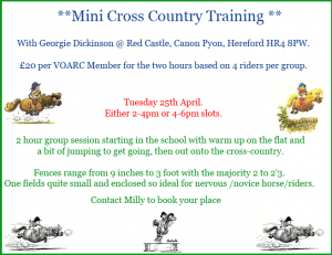 Mini Cross Country Training @ Red Castle | Canon Pyon | England | United Kingdom
