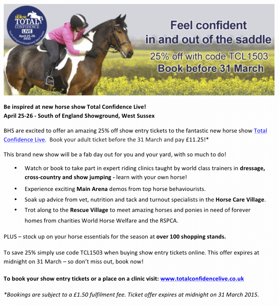 Total Confidence Live Offer