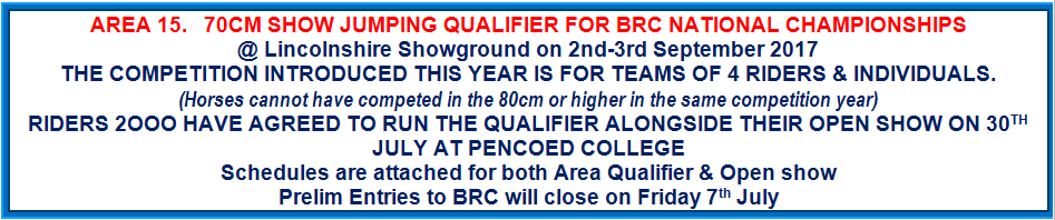Area 15 70cm Show Jumping Qualifier @ Lincolnshire Showground