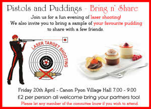 Pistols and Puddings @ Canon Pyon Village Hall